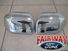 15 thru 17 F-150 OEM Genuine Ford Parts Chrome Mirror Cover Skull Cap Set of 2