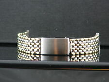 RARE VINTAGE ROLEX STEEL AND YELLOW GOLD BUBBLEBACK BEADED BAND, 4 ROWS OF GOLD