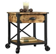 Sofa Table Side End Accent Lamp Stand Drawer Living Room Bedroom Rustic Decor