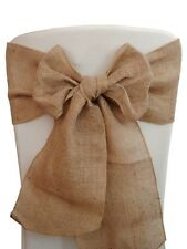 "100 Burlap Chair Sashes 6""x108"" Wedding Event Parties Shows 100% Natural Jute"