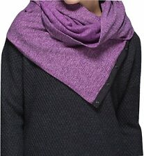NWT Lululemon Vinyasa Scarf Rulu Mini Check Pique Ultra Violet Black Snap Wrap