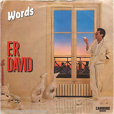 "F R DAVID - Words (UK 2 Track 1982 7"" Single PS)"
