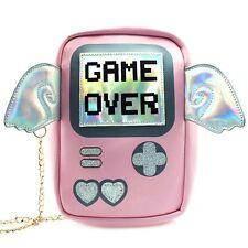"""NEW 7 LUXE Pink """"GAME OVER"""" Crossbody Handbag - SALE"""