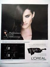 PUBLICITE-ADVERTISING :  L'OREAL Préférence Noir  2016 Isabeli Fontana