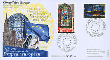 """CE66-PJ FDC Council of Europe """"First Day - 60 years of the European Flag"""" 2015"""