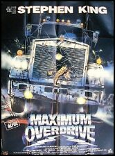MAXIMUM OVERDRIVE Affiche Cinéma / Movie Poster STEPHEN KING 160x120