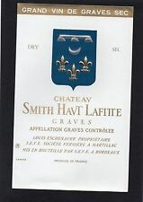 GRAVES GCC VIEILLE ETIQUETTE CHATEAU SMITH HAUT LAFITTE NON MILLESIMEE §21/05§