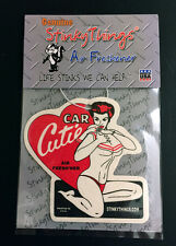 PIN UP BIKINI GIRL MODEL CAR AIR FRESHENER * BLACK ICE * rat rod hot rockabilly