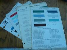 1952 1953 1956 1974 Oldsmobile Ditzler DuPont R-M Color Chip Paint Samples
