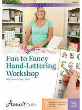 How To Draw Fun and Fancy Hand-Lettering Workshop Class DVD Video Cardmaking NEW