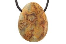Pendentif agate crazy lace (pierre trouée) + cordon en cuir