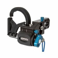 New 2017 Hamskea Archery Hybrid Hunter Pro Micro-Tune Arrow Rest RH Blue 210771
