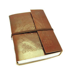 Fair Trade Handmade Eco Large Embossed Leather Journal Notebook 2nd Quality