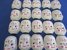 "20 VINTAGE 2-3/4"" UNUSED  PLASTIC CLOWN  FACES SEWING  DOLL CRAFTS"