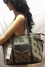 NWT Polo Association Canvas Leather Tote Shoulder Bag Purse $79