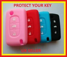 PEUGEOT 607 207 307 308 407 SW KEY FOB SOFT SILICONE COVER 3 BUTTON FLIP KEY