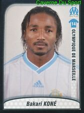 257 BAKARI KONE IVORY COAST OLYMPIQUE MARSEILLE OM STICKER FOOT 2010 PANINI
