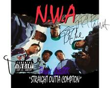 NWA N.W.A X3 DR DRE ICE CUBE & EAZY-E SIGNED 10X8 REPRO PHOTO