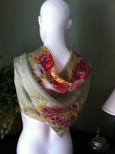 Stunning Tissue Silk Floral Scarf Suitable for Framing