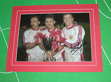 Bryan Robson & Lee Sharpe Signed Manchester United 1991 European CWC Final Photo