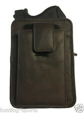 Leather Concealment Gun Holster fits Glock 42 and Holds Cell Phone