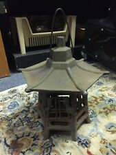 Vintage Cast Iron Garden Pagoda Hanging Japanese Lantern Candle Holder