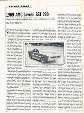 1969 AMC Javelin SST 290 Profile - Car Original Print Article J197