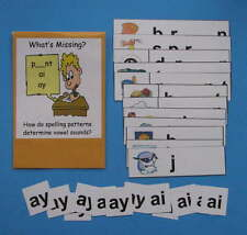 Teacher Made Literacy Center Resource Game Long Vowel Patterns ai & ay