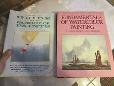 Lot of 2 art instruction - The Wilcox Guide to the Best Watercolor Paints - LUD
