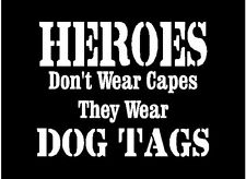 2 US Navy Heroes Decal Sticker