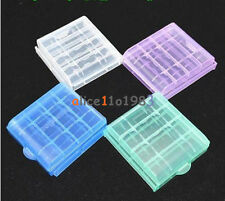 Portable 4x Plastic Translucent Case Holder Storage Box for AA AAA Battery
