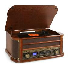 VINTAGE STYLE RECORD PLAYER STEREO SYSTEM SPEAKERS CD PLAYER RADIO AUX VINYL USB