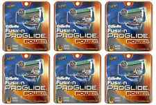 Gillette Fusion Proglide Power Refill Cartridge Blades, 48 Count