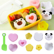 Set of 4 DIY Sushi Rice Ball Molds Sandwich Molds Cute Bento Cooking Tool
