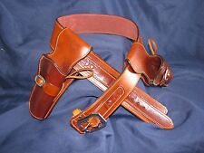 Custom Leather Silverado Double Gun Rig | SASS Cowboy Western Holster Belt