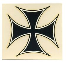 "vtg iron cross water decal 3.25"" motorcycle helmet hot rod drag race speed shop"