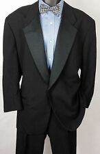 Size (44R) Mens Black GIVENCHY Tuxedo Suit | Formal 100% Wool 2pc | 38X26 Pants