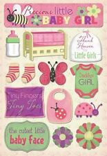 KAREN FOSTER DESIGN DADDY'S GIRL BABY PREGNANCY CARDSTOCK SCRAPBOOK STICKERS