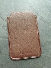 Paul Smith PS Brown Safiano Leather Phone Case/ Card holder  Brand New