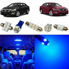 7 Piece blue LED interior conversion package kit and license plate lights NA3B