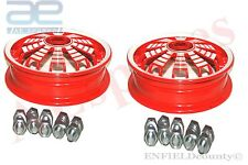 PAIR VESPA ALLOY ALUMINIUM WHEEL RIM 2.10 X 10 PX PK RALLY SPRINT SCOOTER @AUD