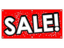 Sale - Red with Dots Store Retail Clearance Promotion Business Sign Banner
