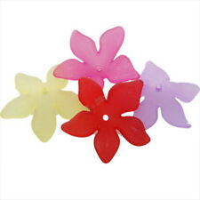 100x 161315 Hotsale Mixed Colorful Sharp Petal Flower Charm Acrylic Spacer Beads