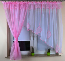 New Amazing Ready Made Voile Net Curtains Leaves Living Dining Room Free P&P