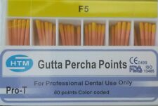 F5 Gutta Percha Points HTM Box of 60 Dental Root Canal Compatible With Protaper