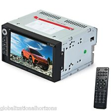 "Car Audio Video 6.2"" Digital Touch Screen 2 Din Multimedia Player DVD VCD FM TV"