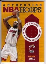LeBRON JAMES 2013-14 PANINI AUTHENTICS NBA HOOPS. GAME USED JERSEY