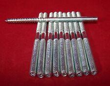 10 Stück Stockschrauben Stahl verzinkt M 6 x 100 mm Torxantrieb