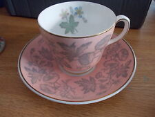 Wedgwood Pink Wildflower 4 Cups & 9 Saucers