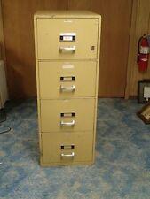 Herring-Hall Marvin Beige 4 Drawer File Fire Proof Cabinet Resistant Safe Office